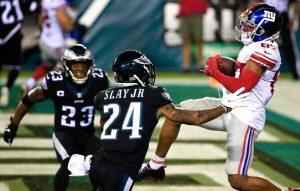 Giants' Sterling Shepard thrives in return regardless of restricted motion